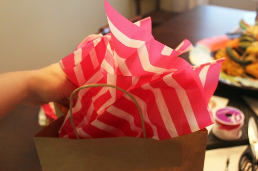 Add tissue paper last