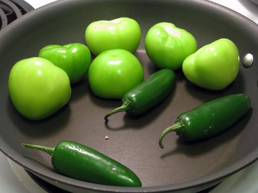 Char veggies in dry pan