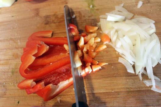 Chop pepper