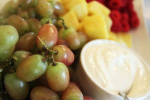 Grapes and dip