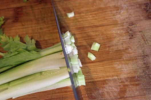 Chop celery stalks