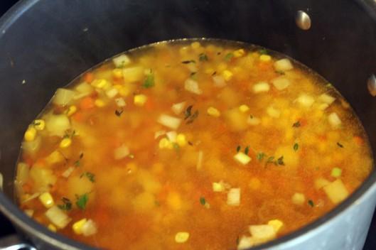 Let vegetables simmer until cooked