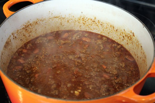 Let chili simmer gently