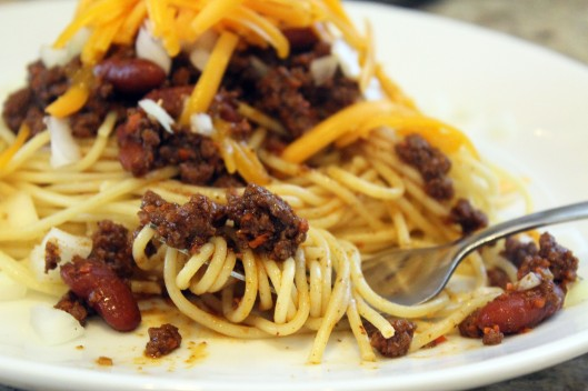 Twirly Spaghetti with Chili
